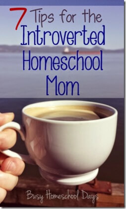 7 Tips for the Introverted Homeschool Mom. This are great tips for introverted moms everywhere!