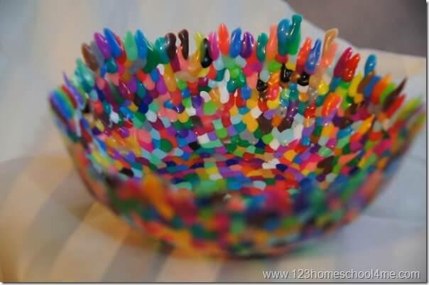 perler bead (metled fushion bead) bowl craft for kids
