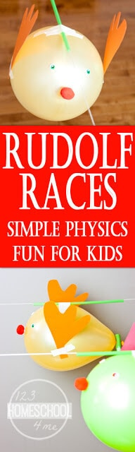 Rudolph Races - a hands on science activity for kids of all ages