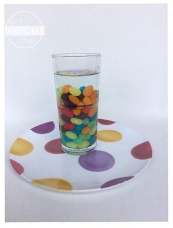 water displacement science experiment for preschool, prek, and kindergarten