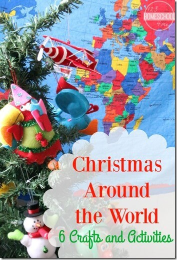 Learn about how other people around the world celebrate the December holiday season with these super cute Christmas around the world crafts. Here are 6 crafts for your toddler, preschool, pre-k, kindergarten, first grade, and 2nd grade students to discover Christmas Around the World for kids. Start by trying these cute Christmas crafts from Germany, Sweden, Mexico, the Philippines, England, and China.  Your children will have fun with this unique trip around the world!