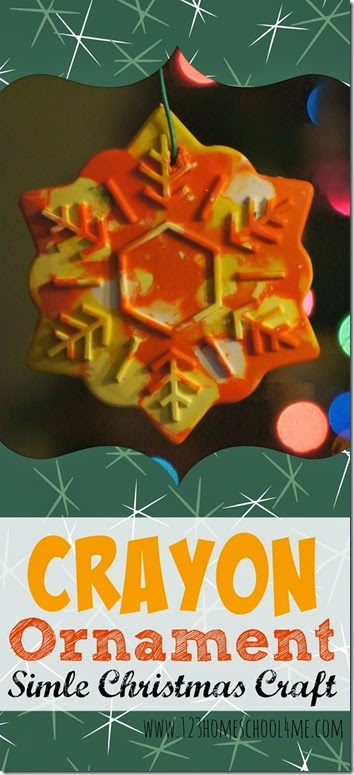 Crayon Ornaments - These easy diy ornament are fun a christmas craft for toddlers, preschool, kindergarten, first grade, 2nd grade and kids of all ages. This is perfect for using up leftover crayon pieces and giving to friends #christmascrafts #christmasornaments #kidmadechristmas