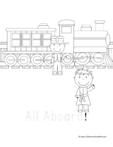 Polar express coloring page