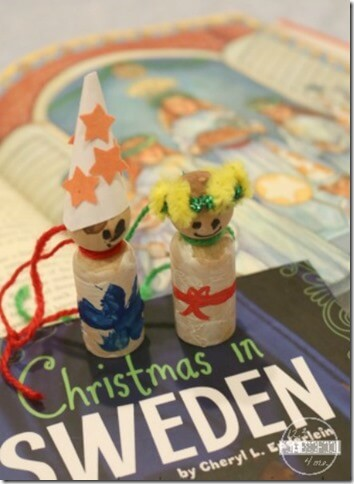 Sweden Christmas Ornament for Kids