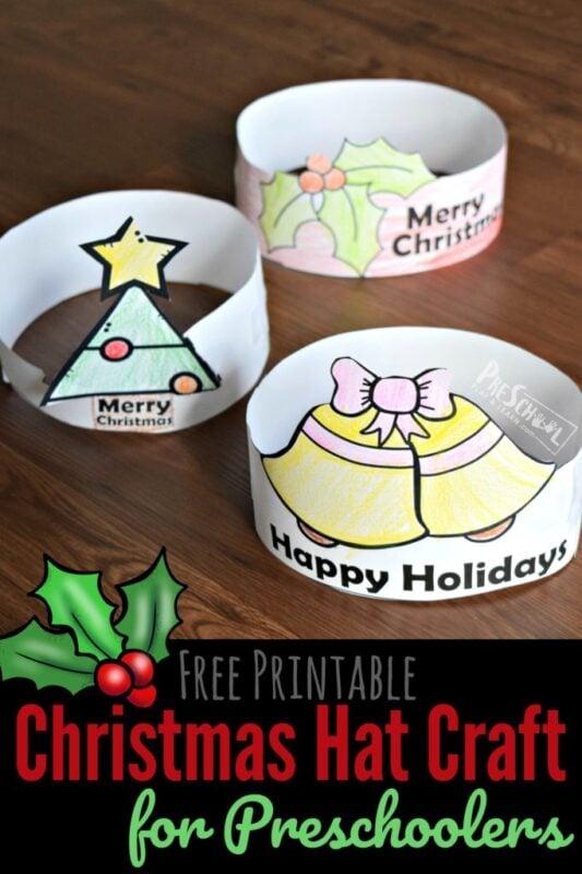 Free printable Christmas Hat Craft