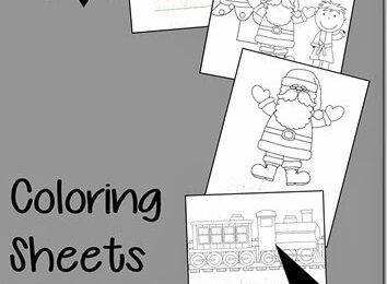 FREE Polar Express Coloring Sheets