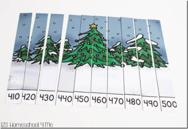 Christmas-Skip-Counting-Puzzles