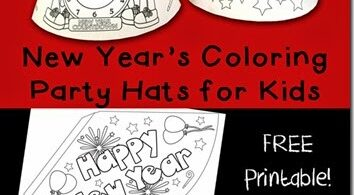 FREE New Years Eve Hats for Kids