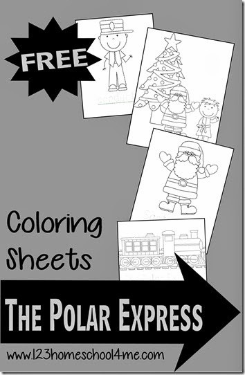 FREE Polar Express Coloring pages - these christmas coloring sheets are perfect for using along with reading the classic book or to engage young kids while having a family movie night! #christmasprintables #christmascoloringpages #thepolarexpress