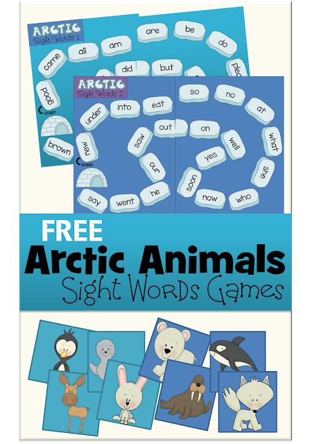 arctic-animals-sight-words-game