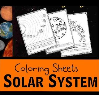 Solar System Coloring Pages / Planet Coloring Sheets