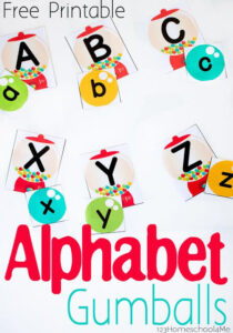 gumball alphabet matching game