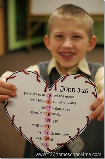John 3 16 printable craft for kids