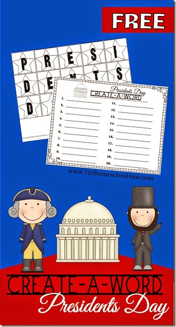 This free printablePresidents Day for Kids activity uses a create-a-wordpresidents day spelling to make learning fun in February. This president day activity is adaptable to kids in kindergarten, first grade, 2nd grade 3rd grade, 4th grade, 5th grade, and 6th grade students. Simply download pdf file withpresidents day worksheets and you are ready for a fun addition to your presidents day theme.