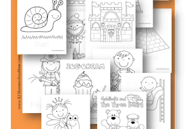 Simple Coloring Pages