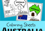 Australia Day Coloring Page