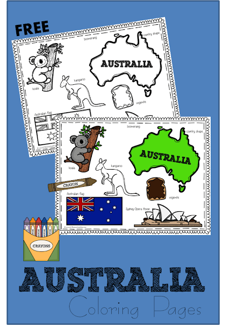 FREE Australia Day Coloring Page