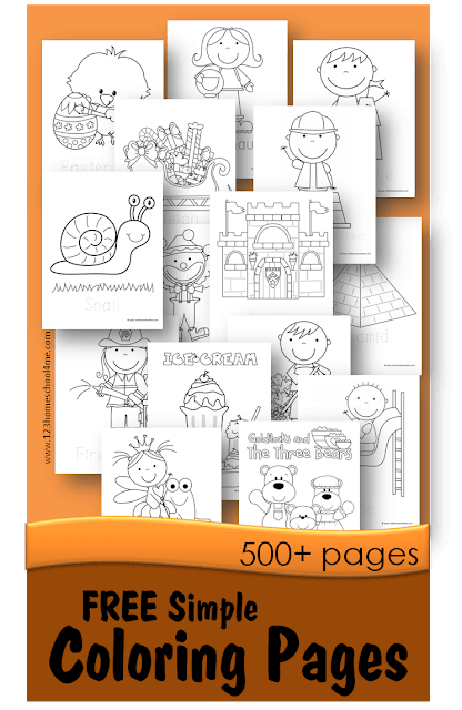 FREE Simple Coloring Pages - over 500 pages of coloring sheets by theme: months. fairy tales, seasons, community helpers, pirates, Christmas, Santa, Easter, space, bugs, fairy, playground, ice cream, gingerbread men, tools, star wars, animals, and more perfect for toddler, preschool kindergarten, and first grade kids. #coloringpages #coloringsheets #simplecoloringpages #toddler #preschool #kindergarten #freeprintable
