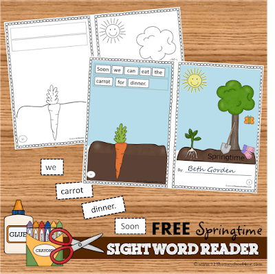 FREE Spring Sight Word Reader for Preschool, Kindergarten, 1st grade, 2nd grade