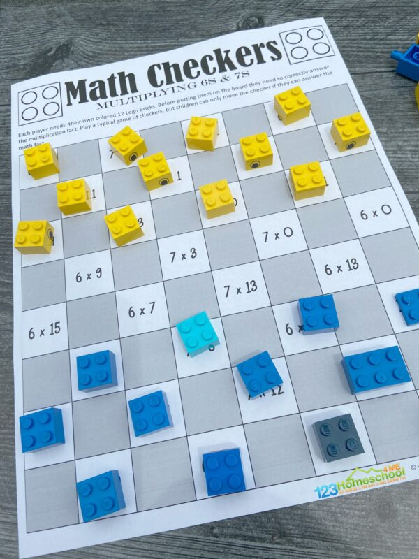 free printable Multiplication Math Game