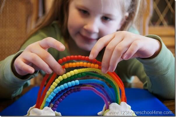 Spring math counting activity for preschool kindergarten 1st grade