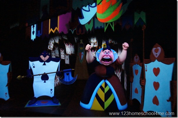 alice in wonderland ride Disneyland