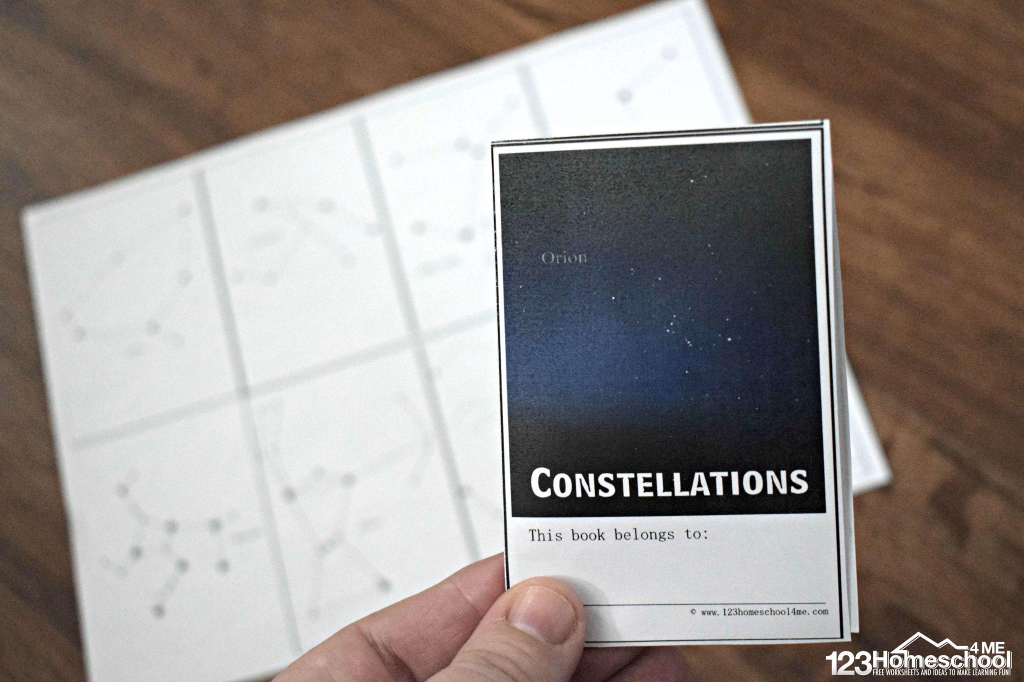 Constellations Mini Book 123 Homeschool 4 Me