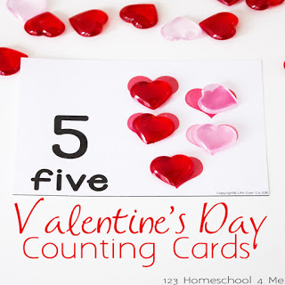 Counting to 10 with these free printable Valentines Day Counting Cards