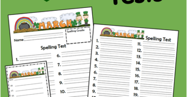 March Spelling Tests