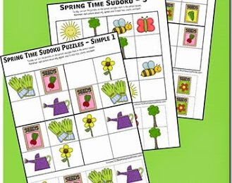 Spring Sudoku Puzzles for Kids