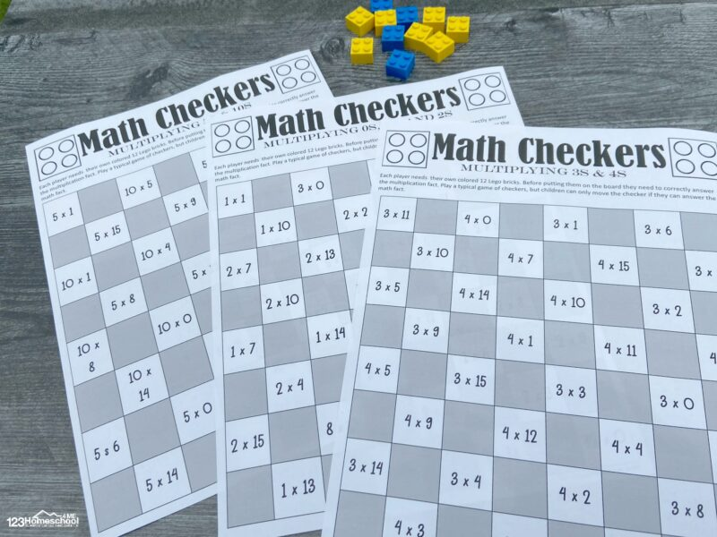 fun and free printable Printable Math Game This free printable math game for practicing multiplying