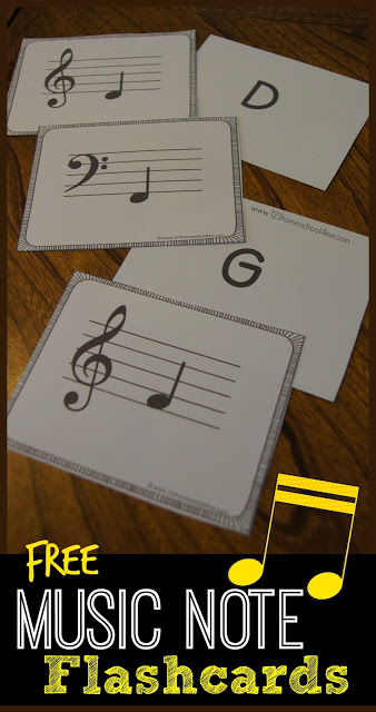 FREE Music Note Flahscards
