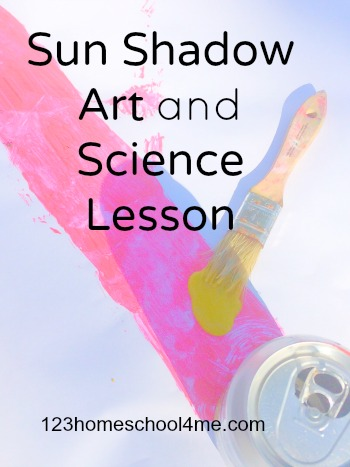 Sun Shadows Art & Science Lesson - this is such a fun, colorful kids activities that kids will love (science, preschool, kindergarten, 1st grade, 2nd grade, 3rd grade)