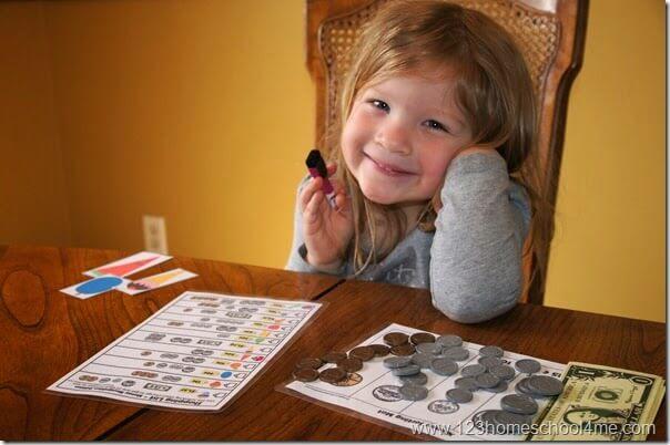 teach preschool and kindergarten kids about money