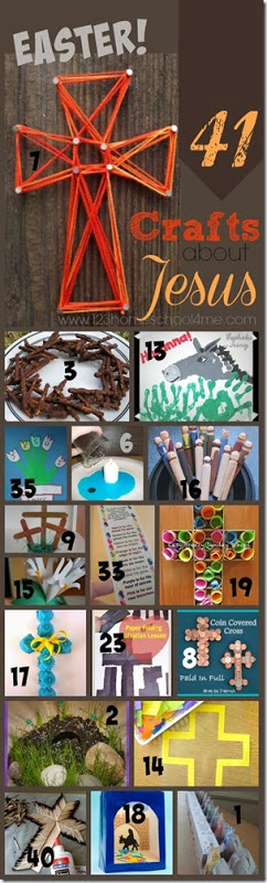 41 Easter Crafts about Jesus - so many fun, clever, and unique bible crafts perfect for sunday school and april for preschool, kindergarten, and first grade kids #eastercrafts #craftsforkids