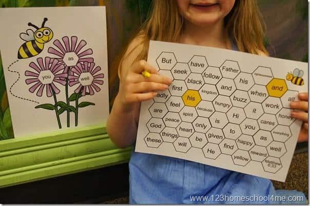 Bee Attitudes Printable