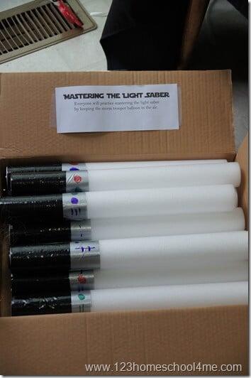 DIY Light up lightsber for star wars birthday party
