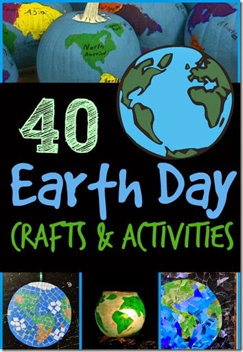 40 Earth Day Crafts for Kids - so many unique and clever world crafts / globe crafts for geography or earth day on april 22. #earthday #geography