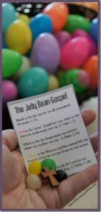 Jelly Bean Gospel Sunday School Printable for Easter Lesson