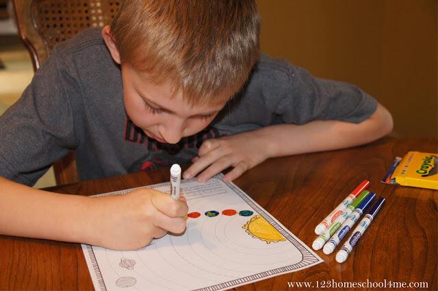 free printable solar system worksheets for kids