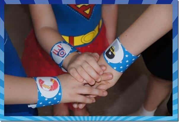 FREE Superhero Cuff Printable that helps kids have fun while being alphabet super heros