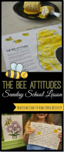 Beatitudes Sunday School lesson with bee bible craft