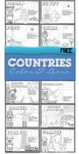 Countries around the world coloring pages