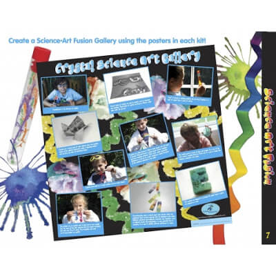 crystal science is a fun way for preschool, kindergarten, 1st garde, 2nd grade kids to learn about science while making art projects