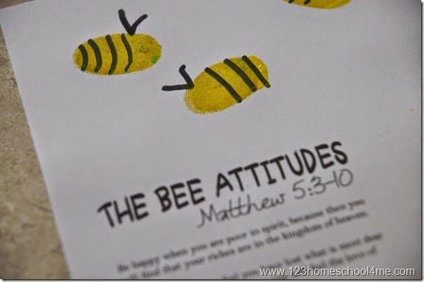 fingerprint bee craft for kids