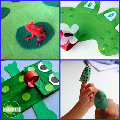 Frog crafts and kids activities for Save the Frogs day April 30