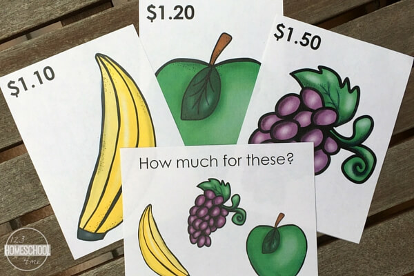 Have fun learning math while playing shops with these money counting task cards!