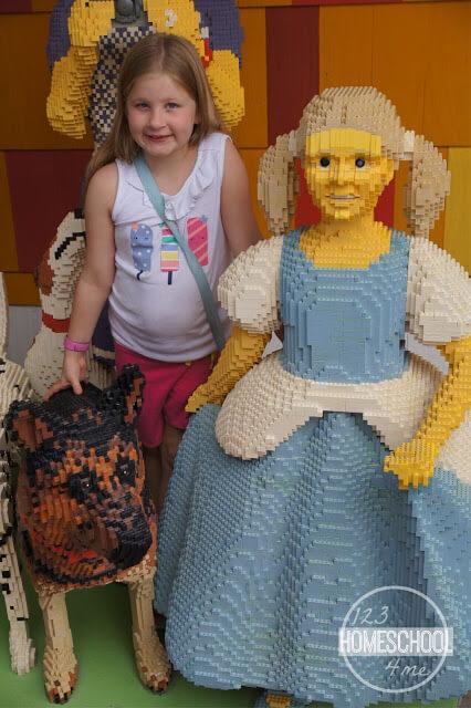 lego sculptures at downtown disney