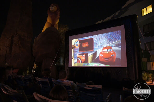 movie under the stars at disney world resorts