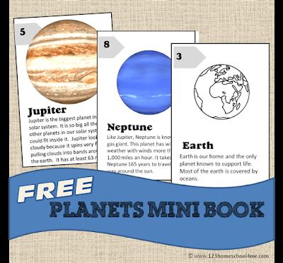 FREE Planets Mini Book